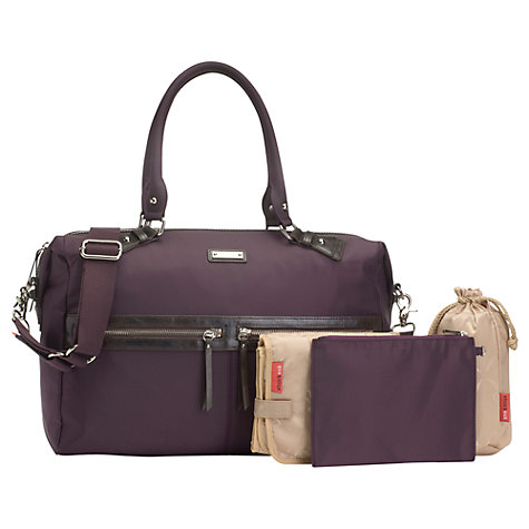 Buy Storksak Caroline Nylon Changing Bag, Mulberry Online at johnlewis.com
