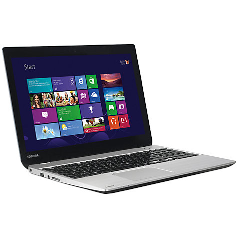 "Buy Toshiba Satellite U50t-A-10F Ultrabook, Intel Core i5, 6GB RAM, 750GB+32GB SSD, 15.6"" Touch Screen, Silver Online at johnlewis.com"