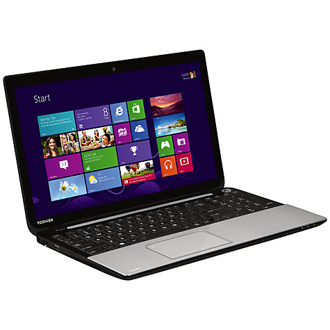 "Buy Toshiba Satellite L50t-A-145 Laptop, Intel Core i5, 8GB RAM, 1TB, 15.6"" Touch Screen, Silver Online at johnlewis.com"