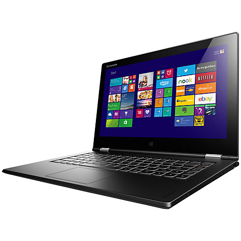 "Buy Lenovo IdeaPad Yoga 2 Pro Convertible Ultrabook, Intel Core i5, 4GB RAM, 256GB SSD, 13.3"" QHD+ Touch Screen, Silver Online at johnlewis.com"