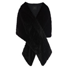 Buy Coast Elayne Faux Fur Wrap, Black Online at johnlewis.com