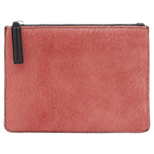 Buy Reiss Vinny Calf Hair Front Zip Pouch Online at johnlewis.com