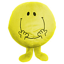 Buy Mr Men Mr Happy Reversible Cushion and Travel Pillow Online at johnlewis.com