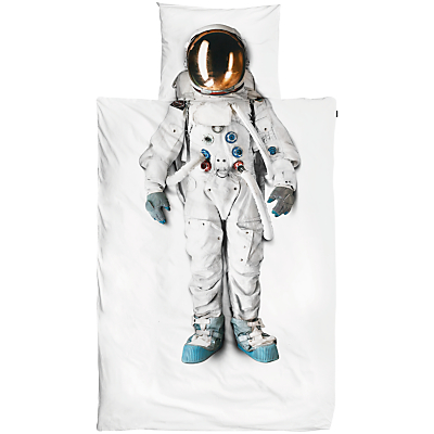 Image of Snurk Astronaut Single Duvet Cover and Pillowcase Set