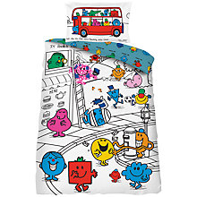 Buy Mr Men Single Duvet Cover and Pillowcase Set Online at johnlewis.com