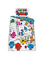 Mr Men Single Duvet Cover and Pillowcase Set