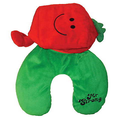Buy Mr Men Mr Strong Reversible Cushion and Travel Pillow Online at johnlewis.com