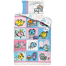 Buy Mr Men Little Miss Single Duvet Cover and Pillowcase Set Online at johnlewis.com