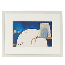 Buy Louise Wright - Owl Framed Print, 33 x 43cm Online at johnlewis.com