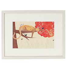 Buy Louise Wright - Leopard Framed Print, 33 x 43cm Online at johnlewis.com