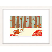 Buy Louise Wright - Woodland Framed Print, 33 x 43cm Online at johnlewis.com
