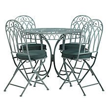 Buy John Lewis Vichy 4 Seater Dining Set, Pale Silver Sage Online at johnlewis.com