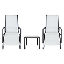 Buy John Lewis Milo Pair of Sunloungers and Side Table Online at johnlewis.com