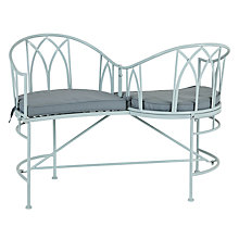 Buy John Lewis Vichy Cupid Seat, Pale Silver Sage Online at johnlewis.com