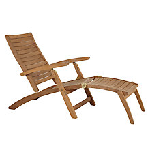Buy John Lewis Longstock Outdoor Steamer Teak Chair Online at johnlewis.com