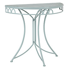 Buy John Lewis Vichy Half Round Balcony Table Online at johnlewis.com