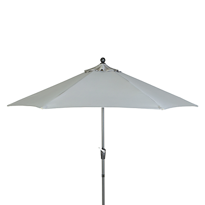 John Lewis Henley by KETTLER Wind-Up Parasol, Dia.2.9m, French Grey