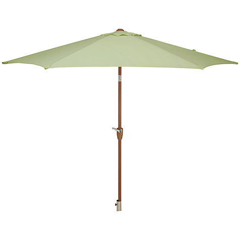 Buy John Lewis Wood-look Parasol, 2 x 3m, Sage Online at johnlewis.com