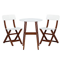 Buy House by John Lewis Wooden 2 Seater Balcony Set Online at johnlewis.com