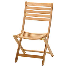 Buy John Lewis Longstock Folding Teak Chair Online at johnlewis.com