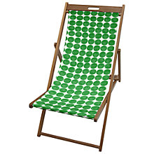 Buy John Lewis Deck Chair Sling, Green Marble Online at johnlewis.com