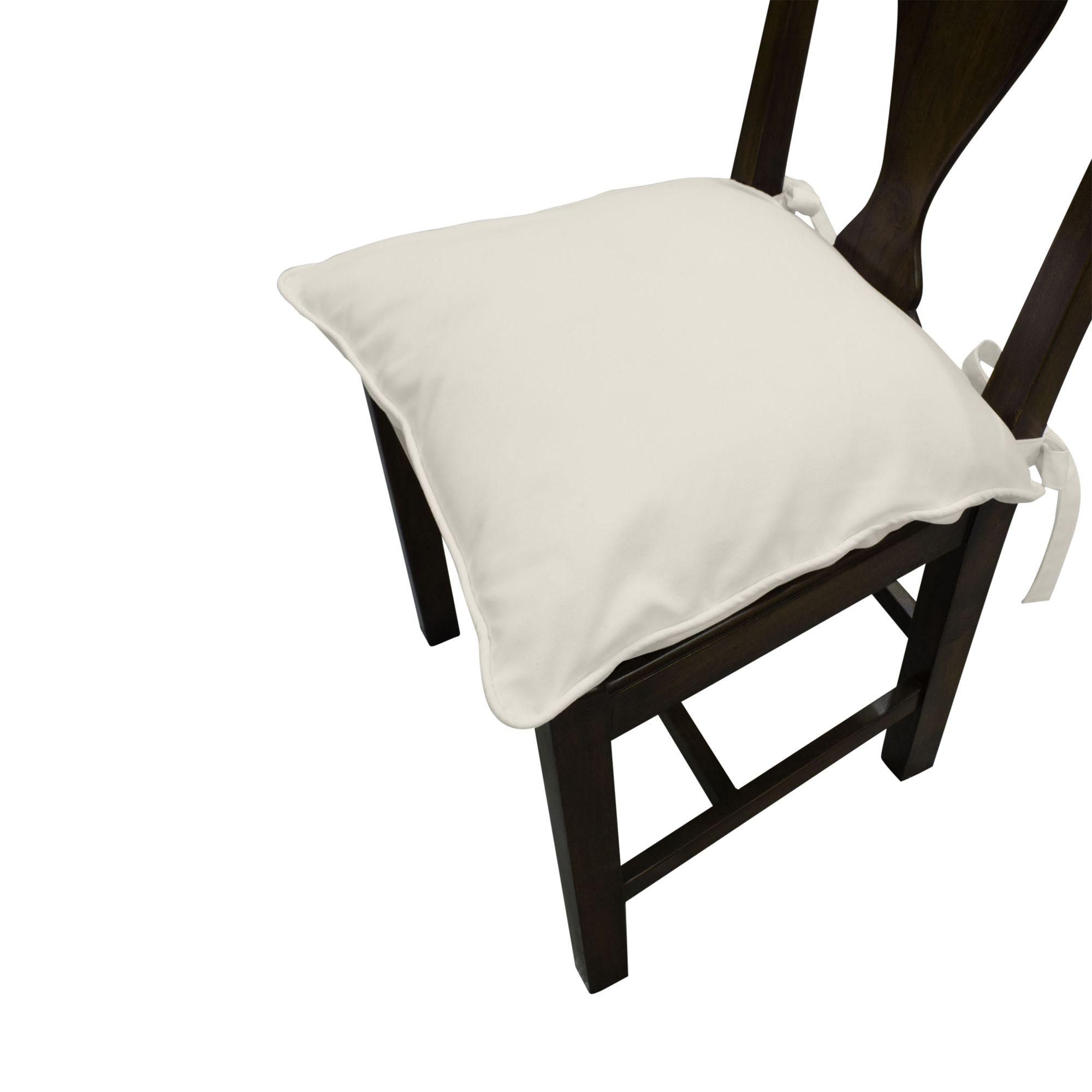 John Lewis Longstock Seat Pad, Oyster