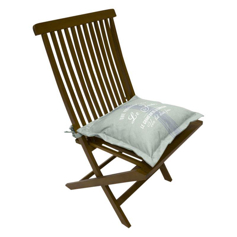 John Lewis Maison Outdoor Seat Pad, Pale Silver Sage