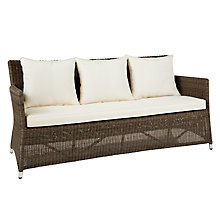 Buy John Lewis Reims 3 Seater Outdoor Sofa, Natural Online at johnlewis.com