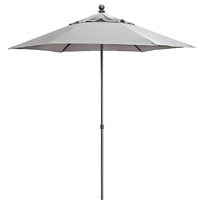 John Lewis Henley by KETTLER Tilting Parasol, Dia.2.3m, French Grey