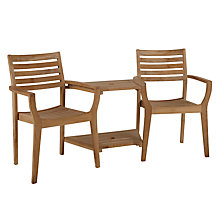 Buy John Lewis Longstock Teak 2-Seat Love Seat Online at johnlewis.com