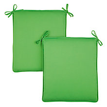 Buy House by John Lewis Bistro Outdoor Seat Pads, 2 Pack, Green Marble Online at johnlewis.com