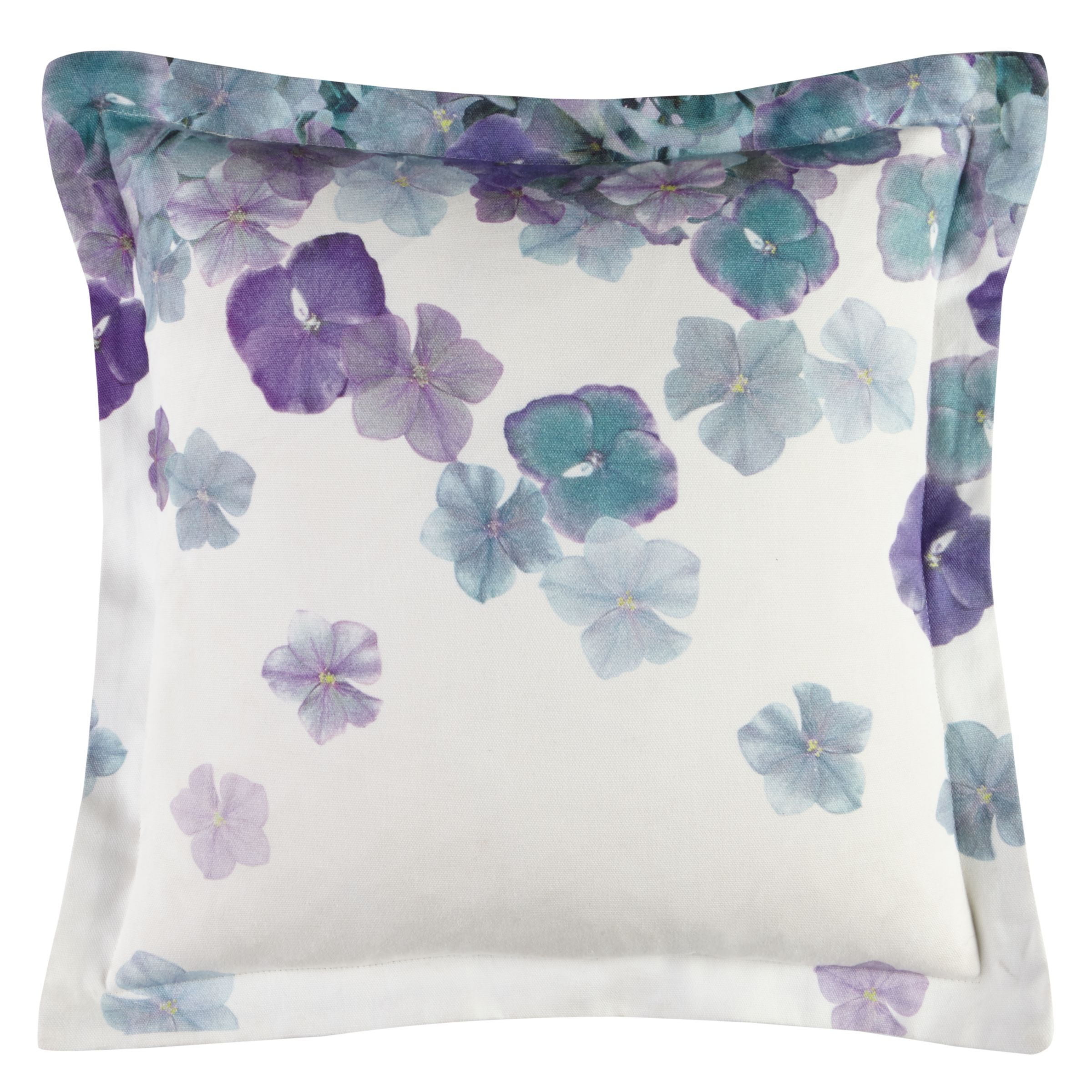 House by John Lewis Expressions Oxford Outdoor Scatter Cushion, Hydrangea, Spearmint