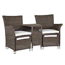 Buy John Lewis Reims Love Seat and Stool Online at johnlewis.com