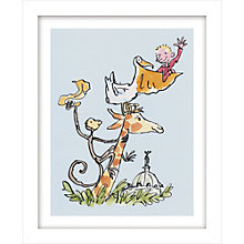 Buy Quentin Blake - Roald Dahl, The Giraffe, The Pelly and Me Framed Print, 38.5 x 31cm Online at johnlewis.com