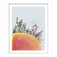 Buy Quentin Blake - Roald Dahl, James and the Giant Peach Framed Print, 38.1 x 31cm Online at johnlewis.com