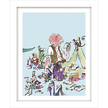 Buy Quentin Blake - Roald Dahl, All the Books Framed Print, 38.5 x 31cm Online at johnlewis.com