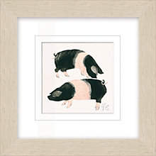 Buy Julia Burns - Red Hen Pigs Framed Potato Print, 35 x 35cm Online at johnlewis.com