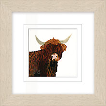 Buy Julia Burns - Red Hen Highland Cow Potato Print, 35 x 35cm Online at johnlewis.com