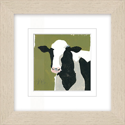 Buy Julia Burns - Red Hen Freesian Cow Framed Potato Print, 35 x 35cm Online at johnlewis.com