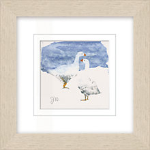 Buy Julia Burns - Red Hen Two Geese Framed Potato Print, 35 x 35cm Online at johnlewis.com