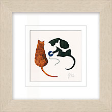 Buy Julia Burns - Red Hen Cats Framed Potato Print, 35 x 35cm Online at johnlewis.com