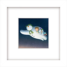 Buy Raymond Briggs - Snowman And Snowdog Framed Print, 23 x 23cm Online at johnlewis.com