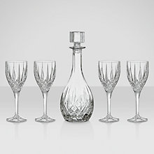 Buy Royal Doulton Round Wine Decanter and 4 Wine Glasses Online at johnlewis.com