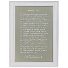 "Buy Bespoke Verse Personalised ""What is Love"" Poem Framed Print, 34.5 x 25.7cm Online at johnlewis.com"