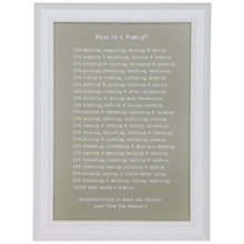 "Buy Bespoke Verse Personalised ""What is a Family?"" Poem Framed Print, 34.5 x 25.7cm Online at johnlewis.com"