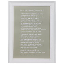 Buy Bespoke Verse Personalised Special Person Poem Framed Print, 34.5 x 25.7cm Online at johnlewis.com