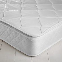 Buy John Lewis The Basics Open Pillowtop Mattress, Single Online at johnlewis.com