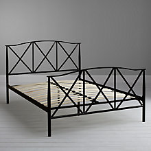 Buy John Lewis Kris Metal Bedstead, Black, Double Online at johnlewis.com