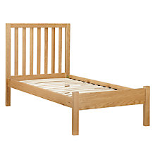 Buy John Lewis Blake Oak Bedstead, Single Online at johnlewis.com