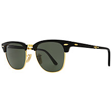 Buy Ray-Ban RB2176 901 Polarised Folding Club Master Sunglasses Online at johnlewis.com